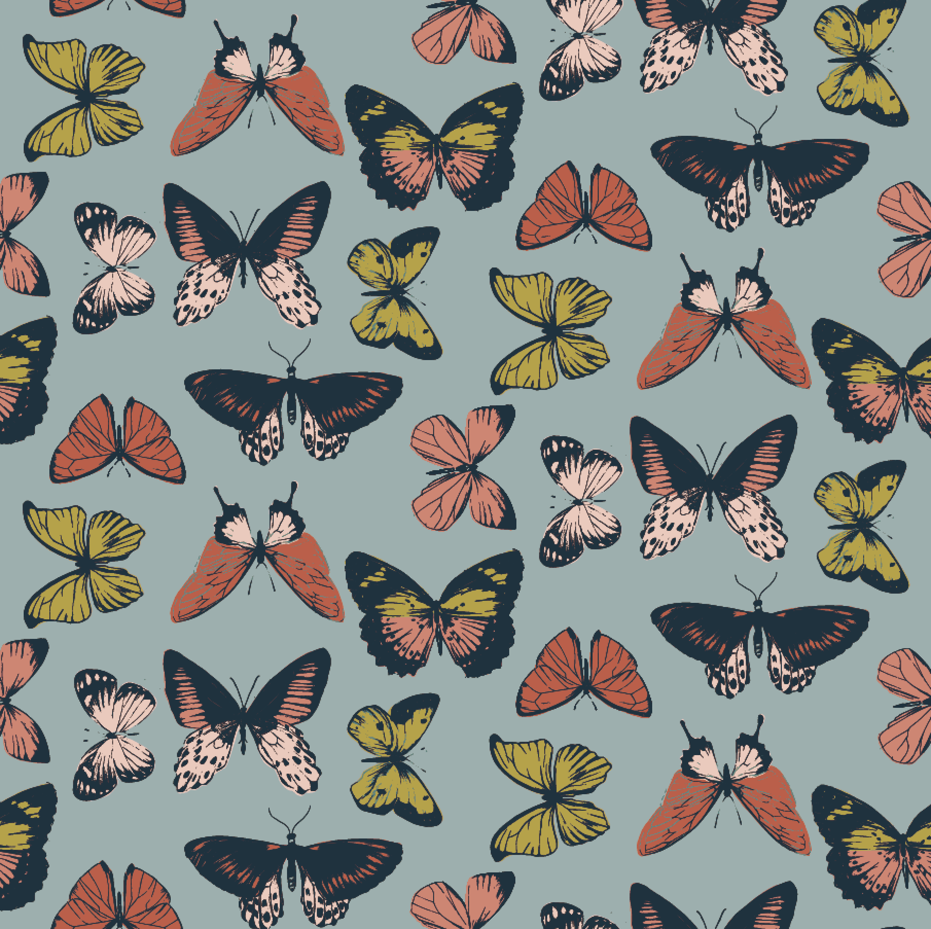 Butterfly Repeat Pattern