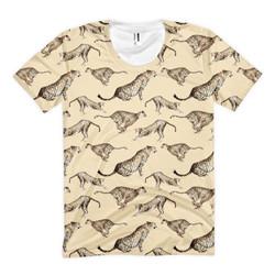 Cheetah T-shirt with Printed Village