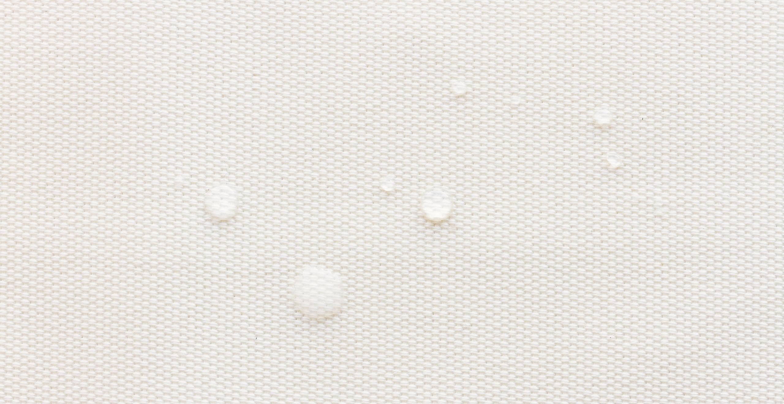 Das Material ist dank Bienenwachs-Behandlung wasserabweisend. Copyright: Qwstion