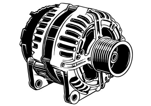 Vektorgrafik: Mahle Generator