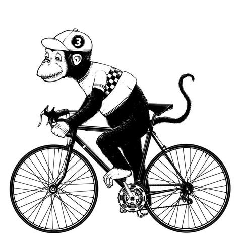 T-Shirt Design: Monkey Racer