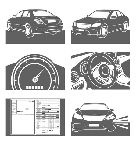 Vektorgrafik: Icon KFZ-Service