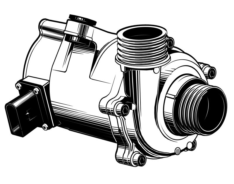 Vektorgrafik: Wasserpumpe