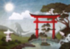 landschaften-illustration-japan-godzilla