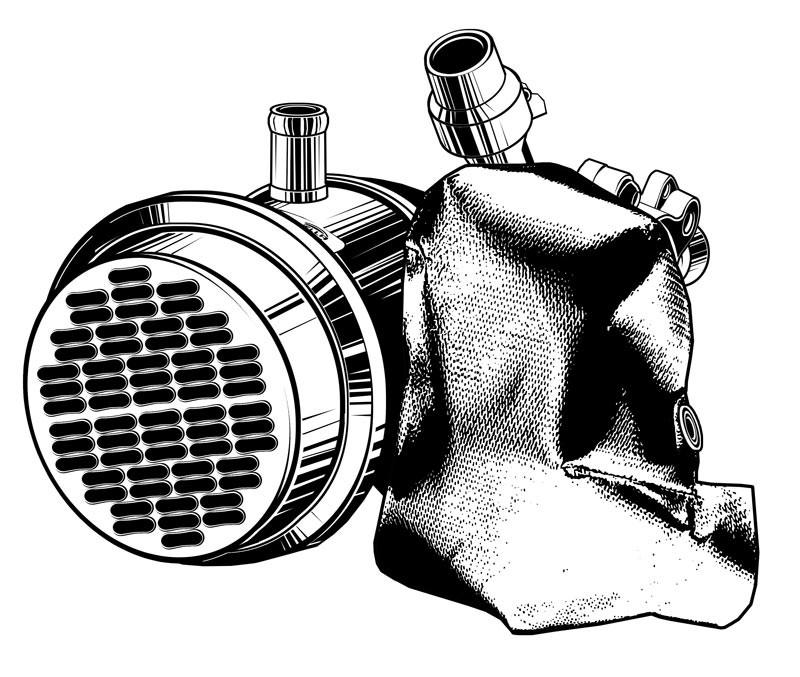 Vektorgrafik: Abgasrückführungskühler