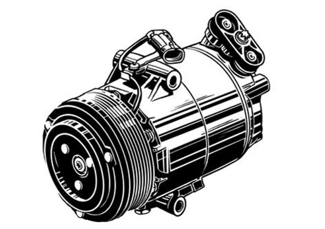 Vektorgrafik: Mahle Kompressor