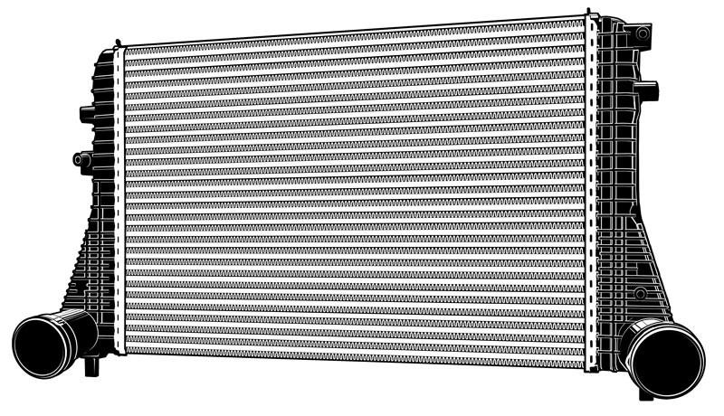Vektorgrafik: Ladeluftkühler