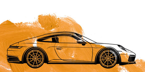 Illustration: 911er Porsche