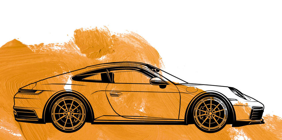 Illustration: 911er Porsche