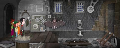 Game Design: Gruselburg - Fledermausgang