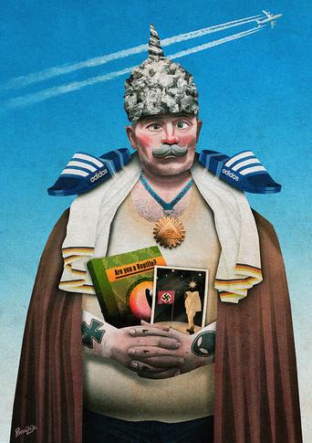 Karikatur: König Aluhut