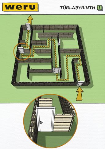 Konzeptvisualisierung: Weru - Labyrinth