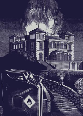 Illustration: Villa Berg on Fire