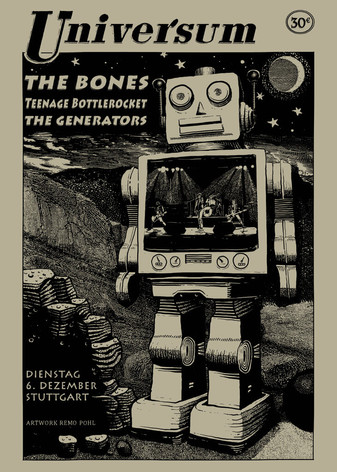 Poster: the Bones, Teenage Bottlerocket & the Generators