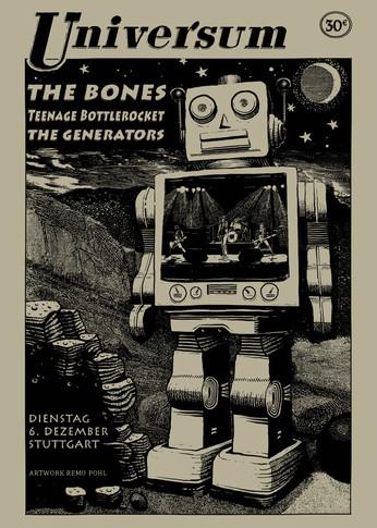 Poster: the Bones, Teenage Bottlerocket & the Generators