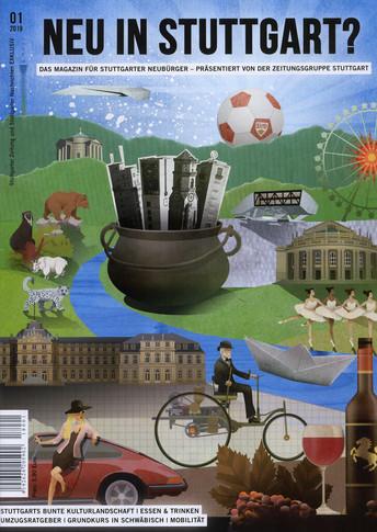 Cover Illustration: Neu in Stuttgart