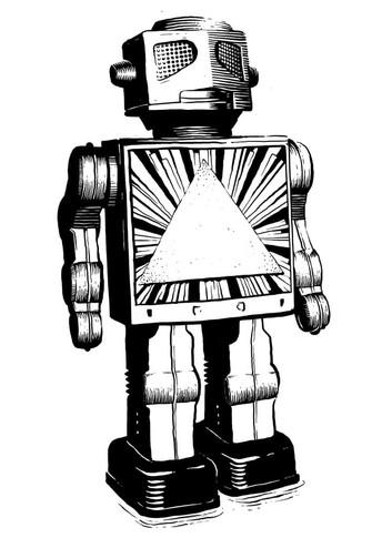 Illustration: Blechroboter