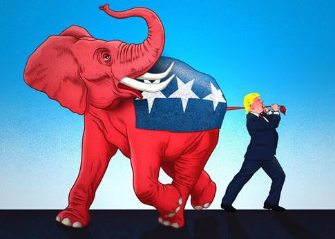Karikatur: Trump vs. Republikaner