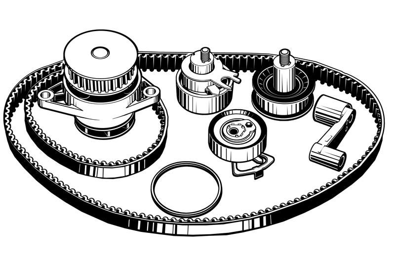 Vektorgrafik: Wasserpumpen-Kit