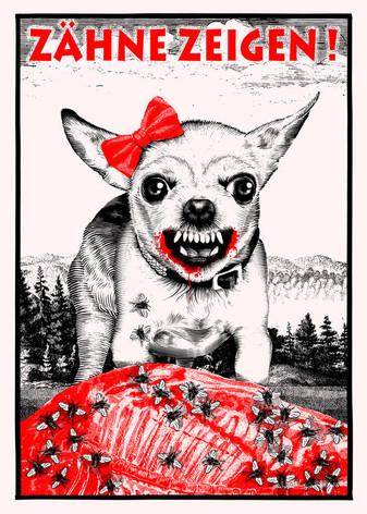 Poster: Zaehne Zeigen!