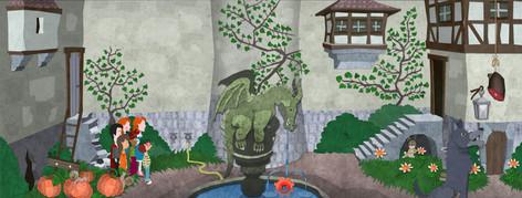 Game Design: Gruselburg - Burghof