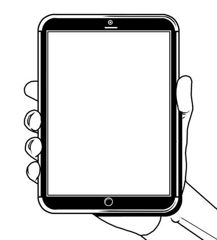Vektorgrafik: Tablet