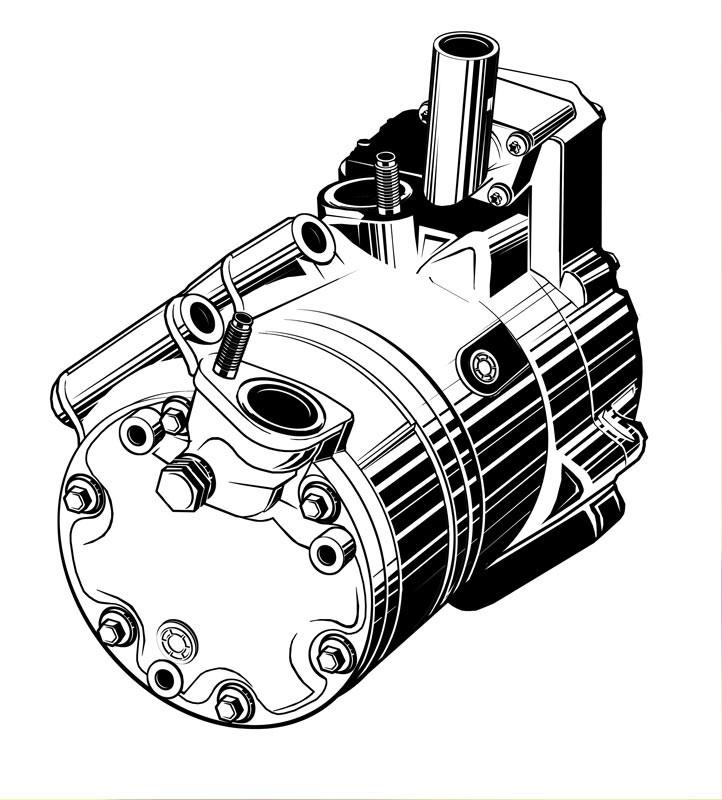 Vektorgrafik: Klimakompressor