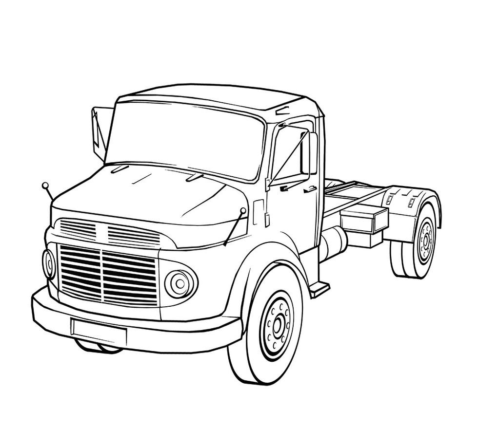 Vektorgrafik: Truck Oldtimer