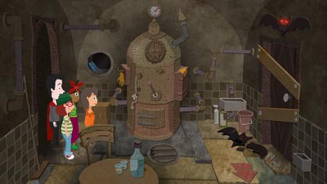 Game Design: Gruselburg - Heizungskeller
