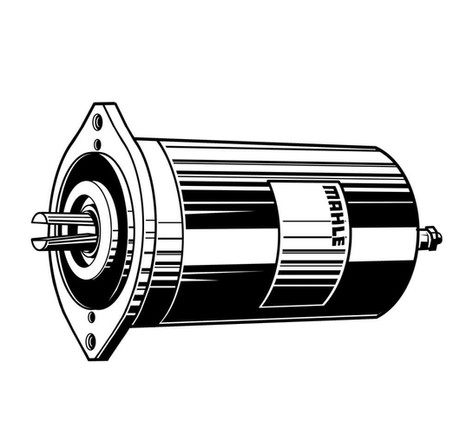 Vektorgrafik: Mahle Elektromotor