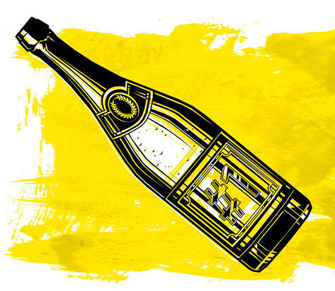 Illustration: Sektflasche