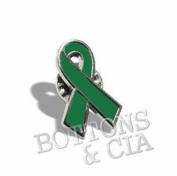 Pin e Broche Laço Verde Campanha Doação