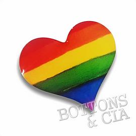 Pin Broche Orgulho Gay Coração LGBT