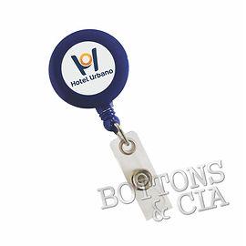 Porta Cracha Retratil Roller Clip Person