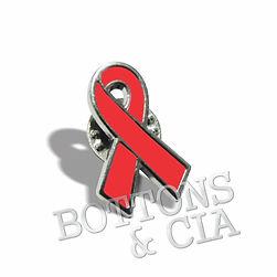 Broche e Pin Laço Vermelho Doação Sangue