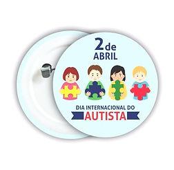 Boton Personalizado Autismo Quebra Cabeça