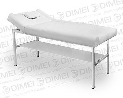 Cama para masajes de gran comodidad y resistencia ya que contiene un mayoracojinamiento y es más ancha que las camas estándar. Cuentacon una estructura tubular cromada para darle soporte y durabilidad.