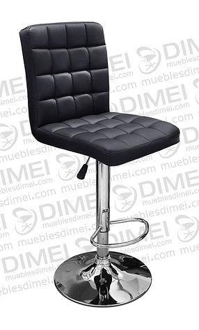 silla para recepcion ergonomica importada color negro con base circular cromada