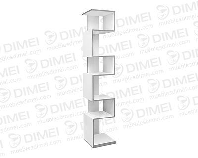Diseño versatil por la forma en zig-zag; cuenta con 6 entrepaños. Fabricado en madera con triplay importado de primera forrado con formaica.