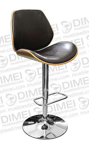 silla para recepcion ergonomica importada color chocolate con base circular cromada