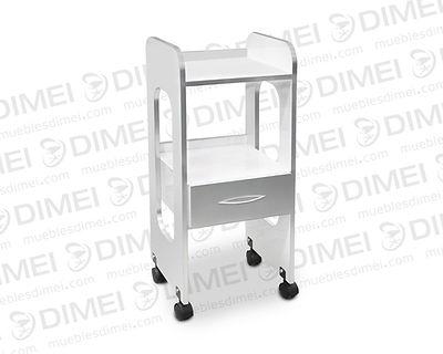 Mesa práctica, cuenta con 2 repizas, 1 cajón y rodajas de plastico para la movilidad; fabricado en triplay de pino chileno importado de 15 mm de grosor y forrado en formaica de primera.