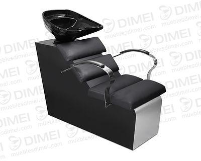 Lavabo de estilo moderno, confortable, resistente y sólido por sus brazos de solera cromada, tarja de fibra de vidrio movible. Mueble hecho en madera de triplay importado de primera.