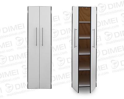 Estante multiusos de 2 puertas con entrepaños para una mejor organización de productos; fabricado en madera con triplayimportado de primeraforrado con formaica.