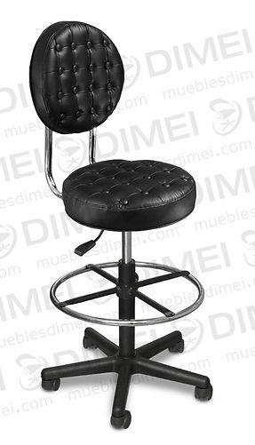 Silla para recepción estilo inglés con base neumática, pistón alto con descansa pies, comoda, elegante, versátil y resistente. 