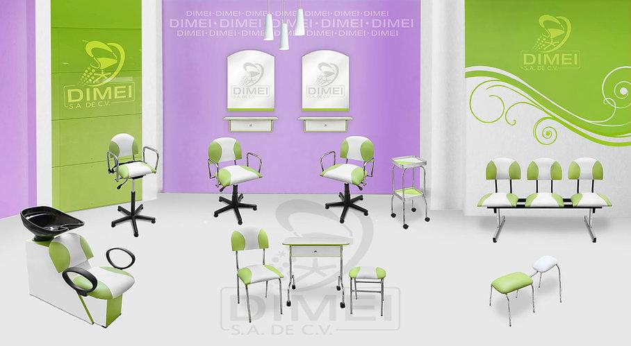 Equipo de muebles para estéticas Económico