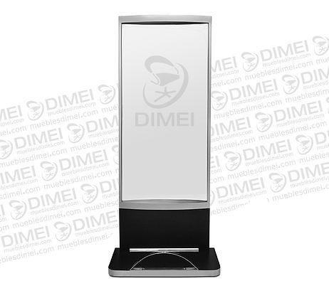 tocador rectangular con piecera cromada y espejo completo