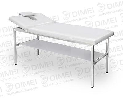 Cama de spa para masajes fija, con cabecera movible; cuenta con estructura metálica de gran calibrepara una mayor resistencia al peso y estabilidad