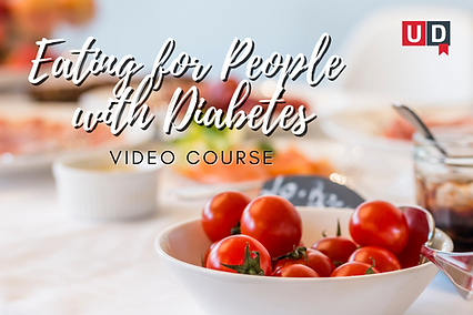 Bowl containing cherry tomatoes. The link in this image leads to the video course Eating for People with Diabetes.