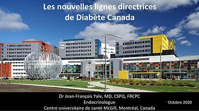 Les nouvelles lignes directrices de Diabète Canada