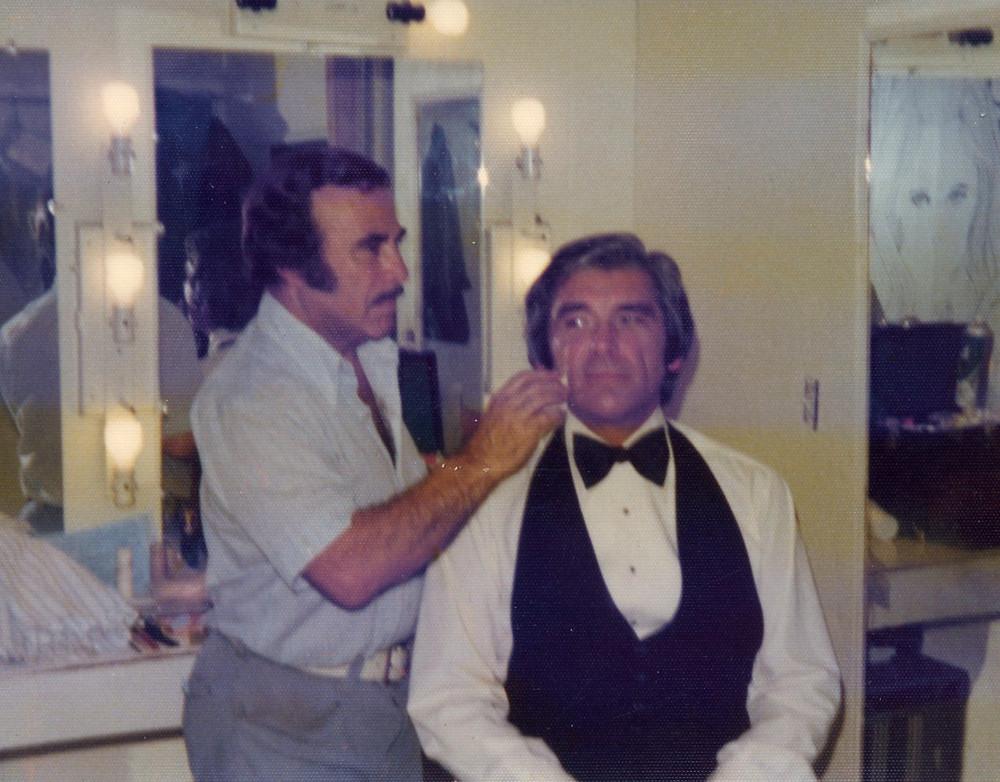 Steve in make-up at Paramount Studios
